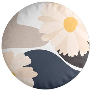 Abstract Daisies Round Cushion
