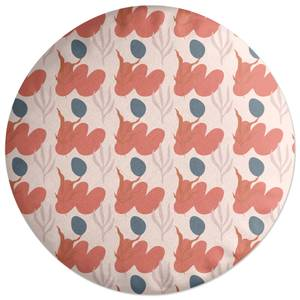 Small Abstract Leaves Round Cushion