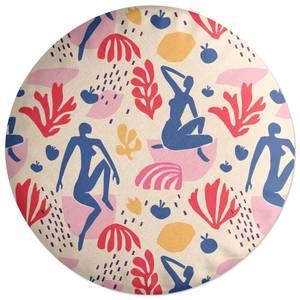 Light Tone Silhouette Round Cushion