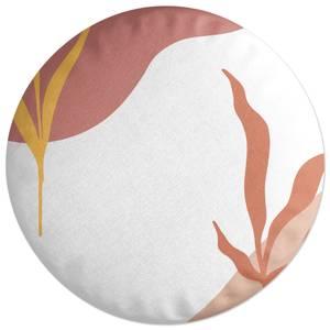 Abstract Garden Round Cushion