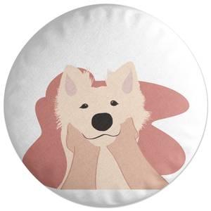 Doggy Smiles Round Cushion
