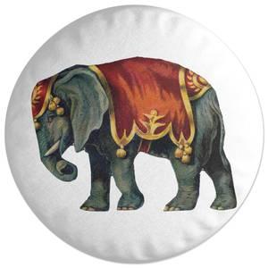 Circus Elephant Round Cushion