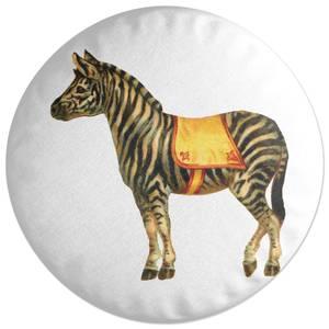 Circus Zebra Round Cushion