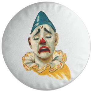 Crying Clown Round Cushion