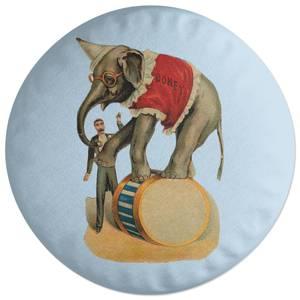 Elephant Tricks Round Cushion