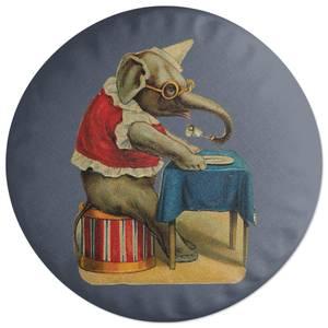 Clown Elephant Round Cushion