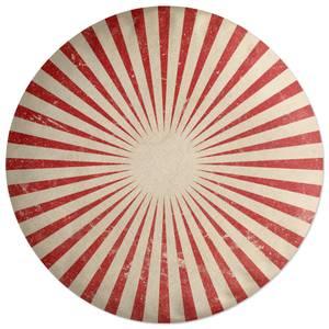Circus Beams Red Round Cushion