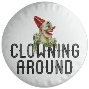 Clowning Around Round Cushion