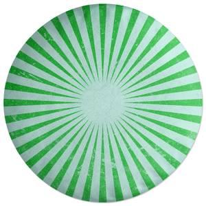 Circus Beams Green Round Cushion