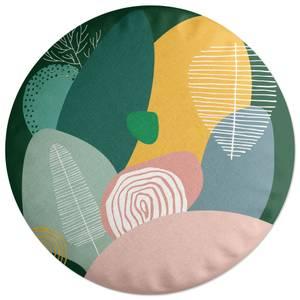 Pastel Garden Round Cushion