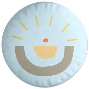 Abstract Sun Round Cushion