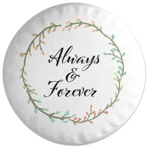 Always And Forever Round Cushion