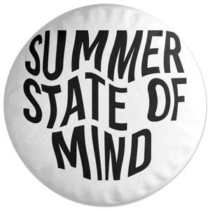 Summer State Of Mind Round Cushion