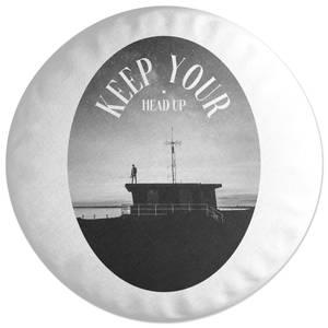 Keep Your Head Up Round Cushion