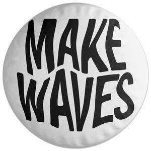 Make Waves Round Cushion