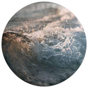 Wave Texture Round Cushion