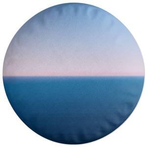 Sunset Cool Tones Round Cushion