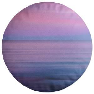 Sunset Purple Tones Round Cushion