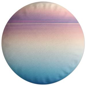 Sunset Blue And Pink Round Cushion