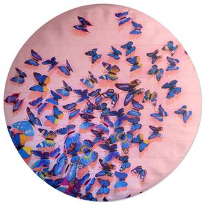 Girly Butterfly Crowd Round Cushion