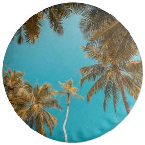 Palm Trees Round Cushion