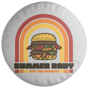 Summer Body Out The Window Round Cushion