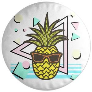 Summer Pineapple Round Cushion