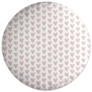 Pink Hearts Round Cushion