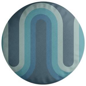 Blue Groove Round Cushion