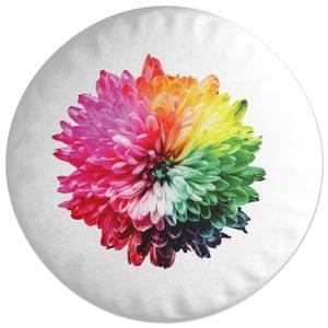 Fluro Flower Round Cushion