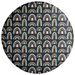Rainbow Moody Round Cushion