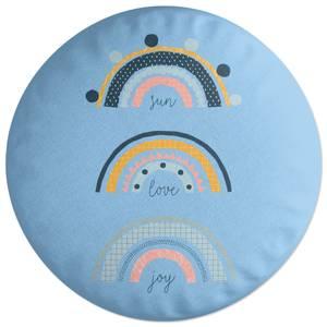 Sun Love Joy Round Cushion