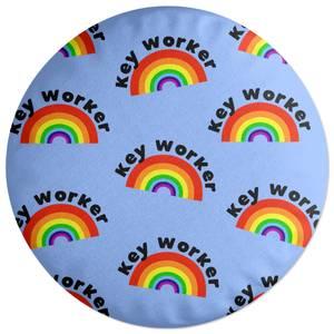 Key Worker Rainbow Round Cushion