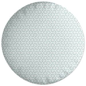 Linear Hexagon Round Cushion