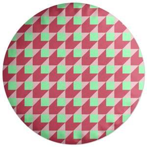 Colourful Squares Round Cushion