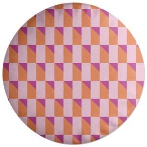 Colourful 3D Shape Round Cushion