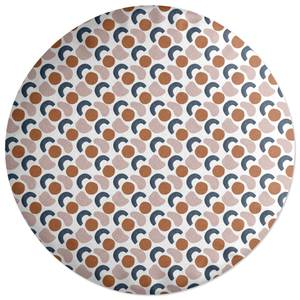 Circular Blobs Round Cushion