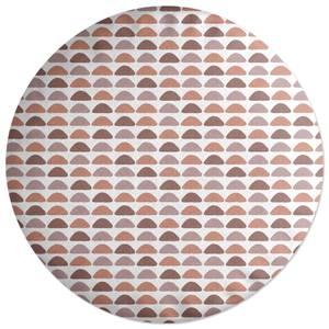 Semi Circles Round Cushion