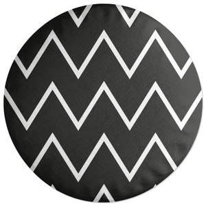 Dark Zig Zag Round Cushion