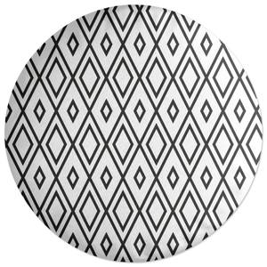 Repeat Diamond Round Cushion