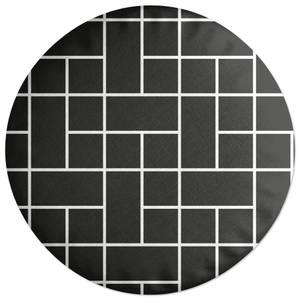 Tesselated Blocks Round Cushion