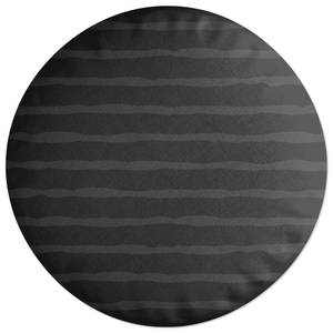 Inky Stripes Round Cushion
