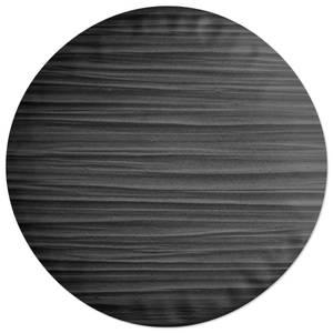 Black Texture Round Cushion