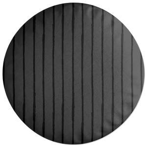 Inky Vertical Stripes Round Cushion