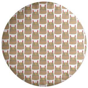 Brown Cat Round Cushion