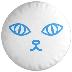 Cat Eyes And Nose Round Cushion