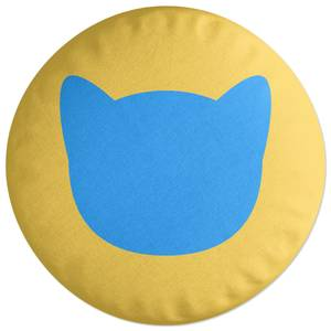 Cat Outline Round Cushion