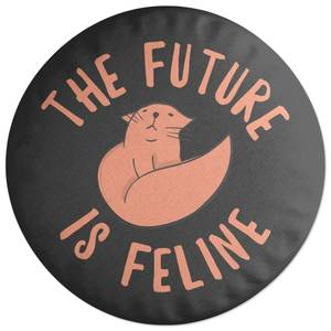 The Future Is Feline Round Cushion