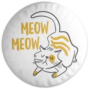 Meow Meow Cat Round Cushion