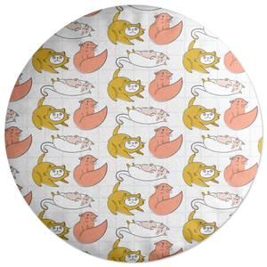 Cat Pattern Round Cushion